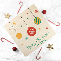 Bauble Design Christmas Eve Personalised Box - Luxe Gift Store