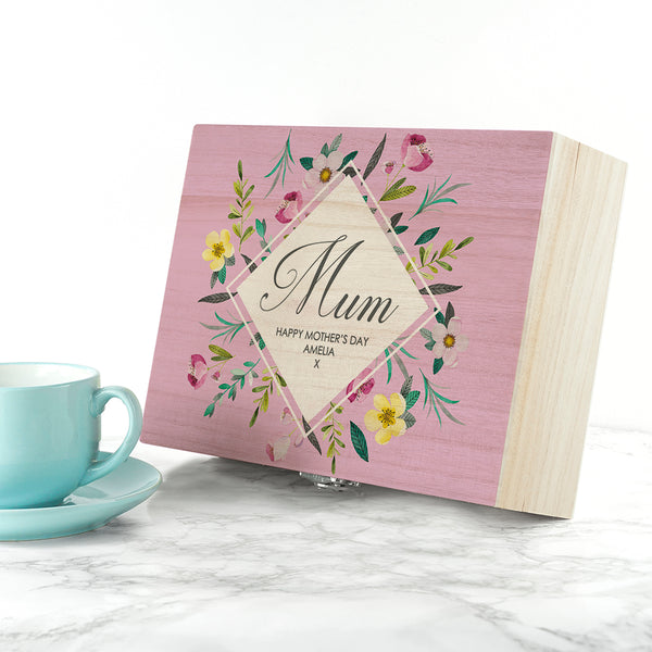 Botanical Mother's Day Personalised Tea Box