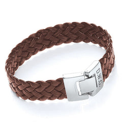 Soft Leather Personalised Bracelet - Brown Shown - Luxe Gift Store