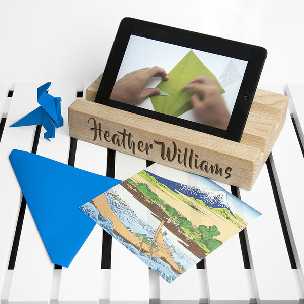 Office Desk Personalised Tablet Holder (Double)