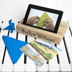 Office Desk Personalised Tablet Holder (Double) - Luxe Gift Store