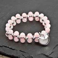 Enchantment Personalised Rose Quartz Bracelet - Luxe Gift Store
