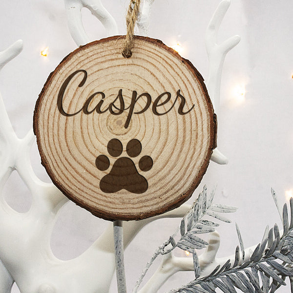 Christmas Family Cat's Personalised Wooden Tree Decoration