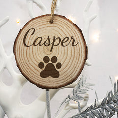 Christmas Family Cat's Personalised Wooden Tree Decoration - Luxe Gift Store