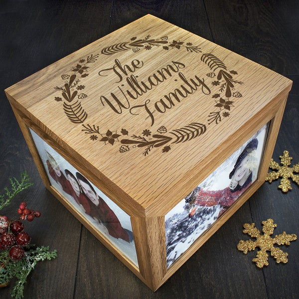 Family's Christmas Personalised Memory Box