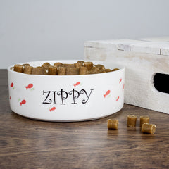 Cat's Personalised 'Female Fishy' Cat Bowl - Luxe Gift Store