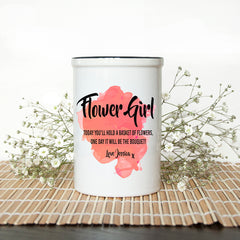 Flower Girl Personalised Vase - Luxe Gift Store