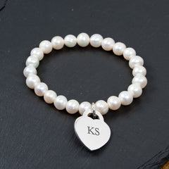 Forever White Personalised Pearl Bracelet - Luxe Gift Store