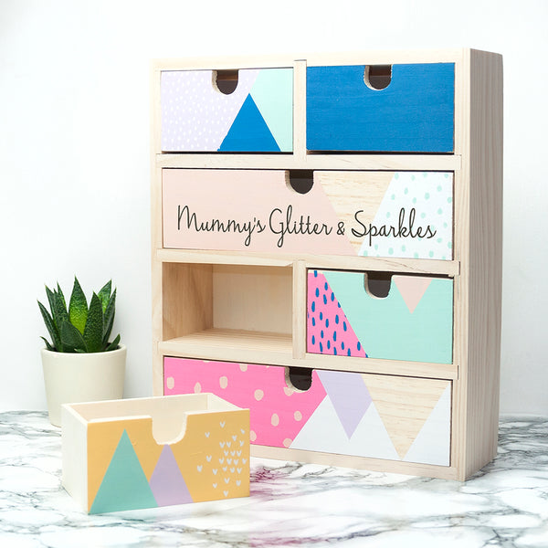 Geometric Personalised Accessory Drawers