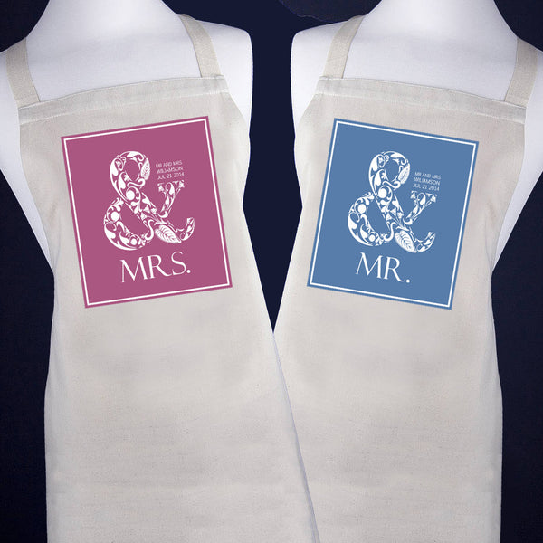 Married Couple's 'Mr & Mrs' Apron