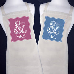 Married Couple's 'Mr & Mrs' Apron -  - 1