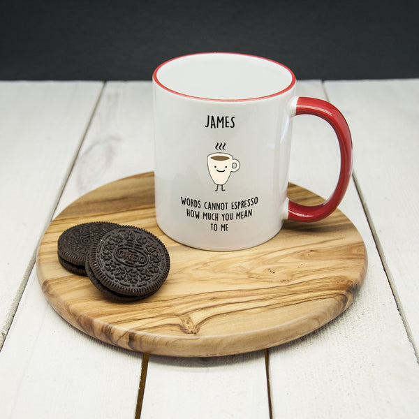 Personalised 'How Much You Mean To Me' Mug