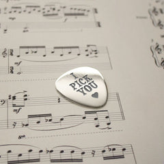 'I Pick You' Personalised Plectrum - Luxe Gift Store