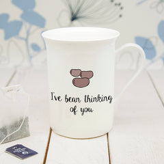 'I've Bean Thinking Of You' Personalised Bone China Mug - Luxe Gift Store