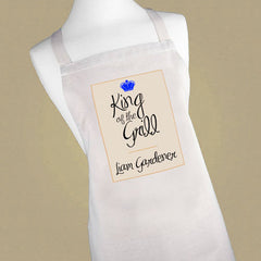 Men's Personalised 'King of the Grill' Apron - Luxe Gift Store