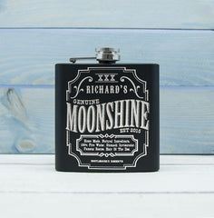 Moonshine Vintage Personalised Hip Flask - Luxe Gift Store