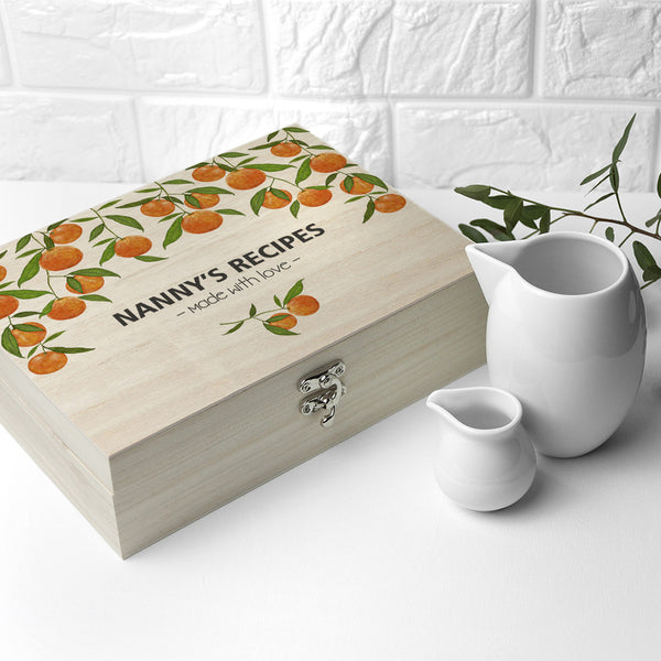 Recipe Personalised Box - Orange Grove Design