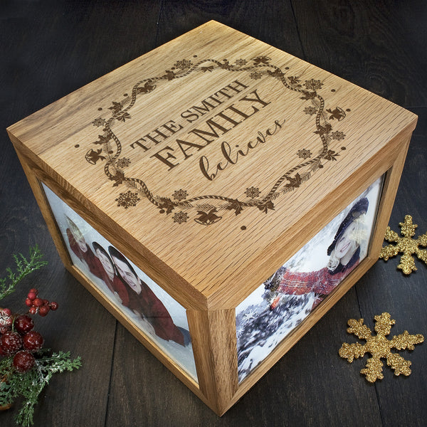 Family's Christmas Personalised 'Our Family Believes' Memory Box