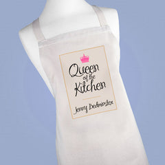 Women's Personalised 'Queen of the Kitchen' Apron -