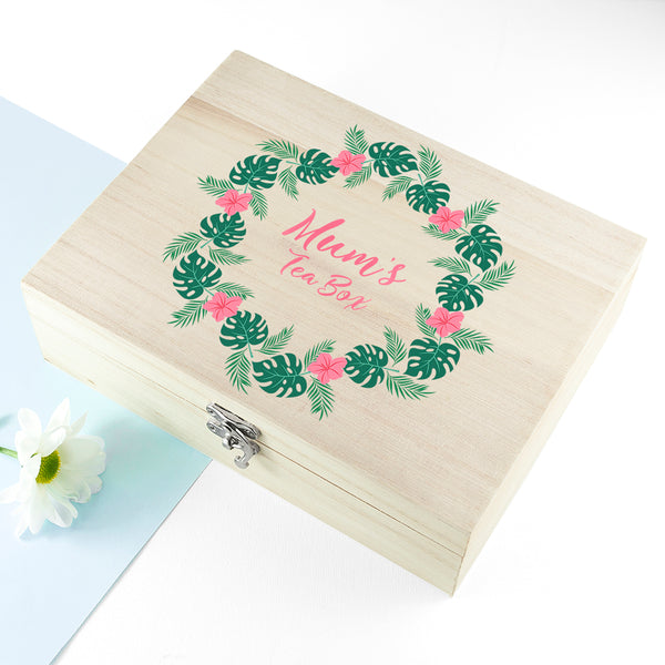 Rainforest Wreath Mother's Day Personalised Tea Box
