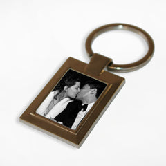 Rectangle Photo Personalised Keyring -