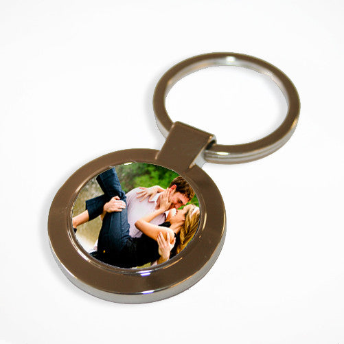 Round Photo Personalised Keyring