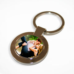 Round Photo Personalised Keyring -