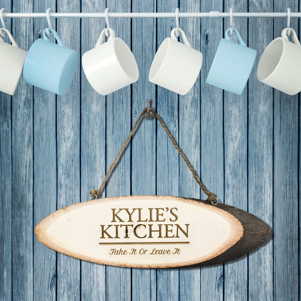 Rustic Kitchen Personalised Sign