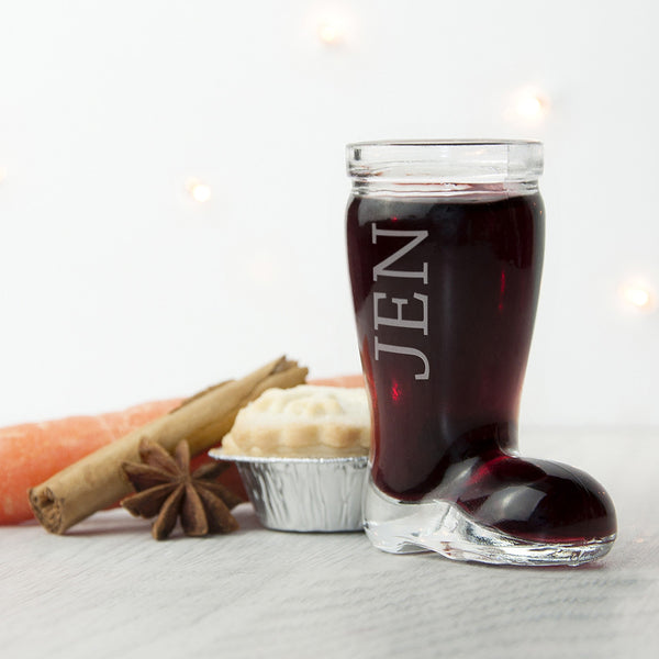 Santa Boot Personalised Shot Glass