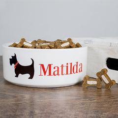Dog's Personalised 'Scottie Dog' Food Bowl - Luxe Gift Store