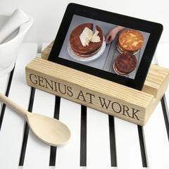 Kitchen Personalised Tablet or Recipe Book Wooden Holder (Single) - Luxe Gift Store