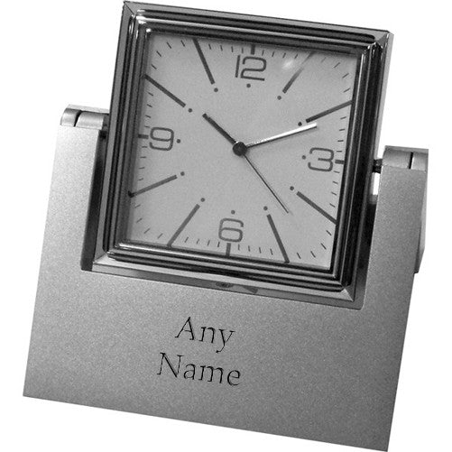 Silver Personalised Spinner Clock & Frame