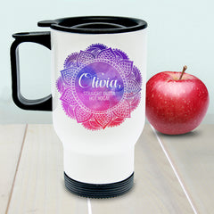 Spirited White Personalised Travel Mug - Luxe Gift Store
