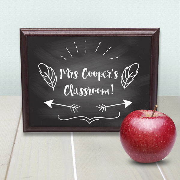 Teacher's Personalised Classroom Sign
