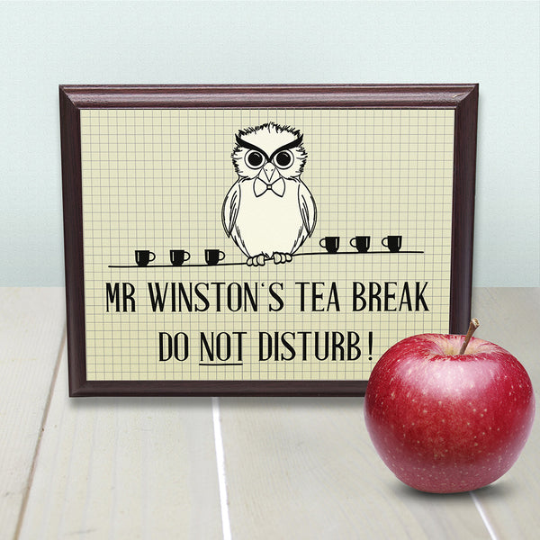 Teacher's Personalised 'Do Not Disturb' Sign