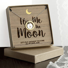 Romantic 'Fly Me To The Moon' Necklace -Gold & Silver or Rose Gold & Silver - Luxe Gift Store - 2