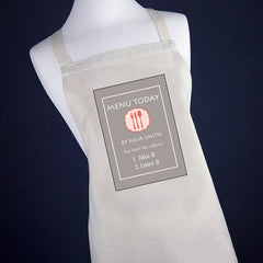 'Today's Menu' Personalised Apron - Luxe Gift Store