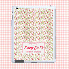 Traditional Flower Print Personalised Tablet and iPad case - Luxe Gift Store