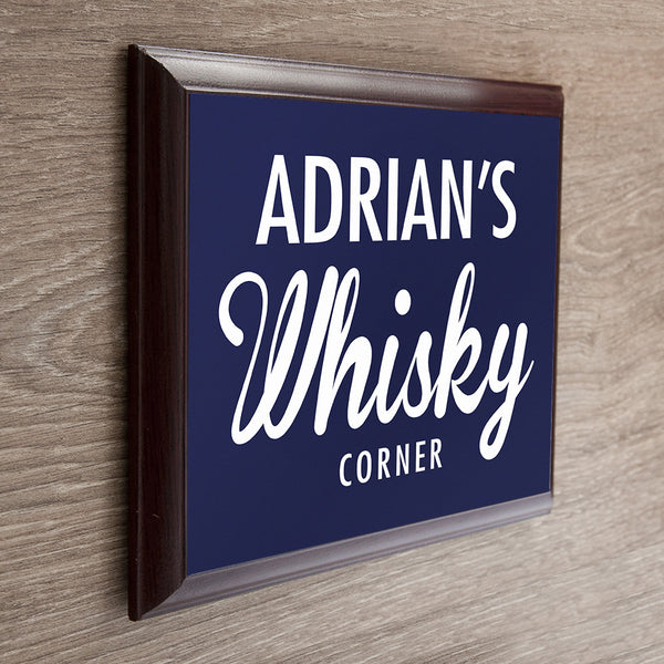 Whiskey Corner Personalised Plaque