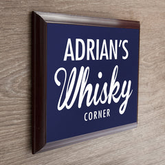 Whiskey Corner Personalised Plaque - Luxe Gift Store