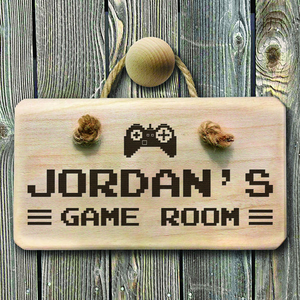 Men's Game Room Personalised Wooden Sign