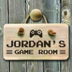 Men's Game Room Personalised Wooden Sign - Luxe Gift Store