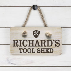 Men's Tool Shed Personalised Wooden Sign