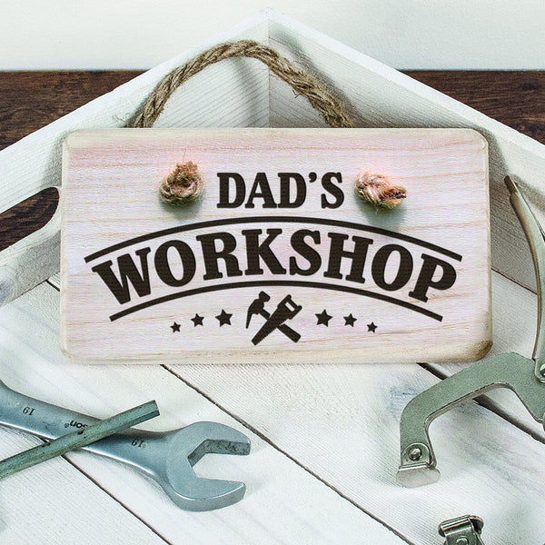 Men's Workshop Personalised Wooden Sign