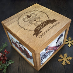 Christmas Personalised Woodland Mouse Memory Box - Luxe Gift Store