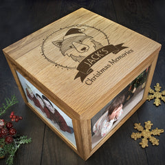 Christmas Personalised Woodland Wolf Memory Box - Luxe Gift Store