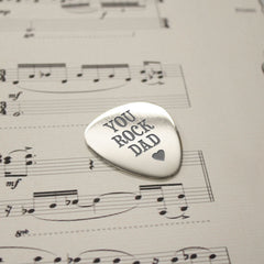Dad's Personalised 'You Rock Dad' Plectrum - Luxe Gift Store