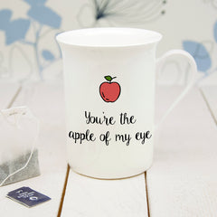 'You're The Apple Of My Eye' Personalised Bone China Mug - Luxe Gift Store