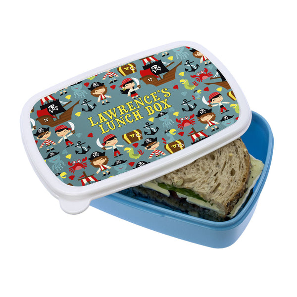 Kid's Playful Pirates Personalised Lunch Box