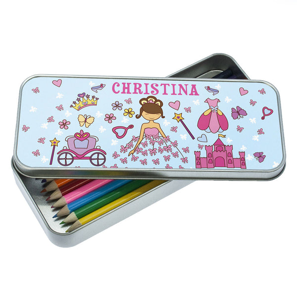 Pretty Princess Personalised Pencil Case